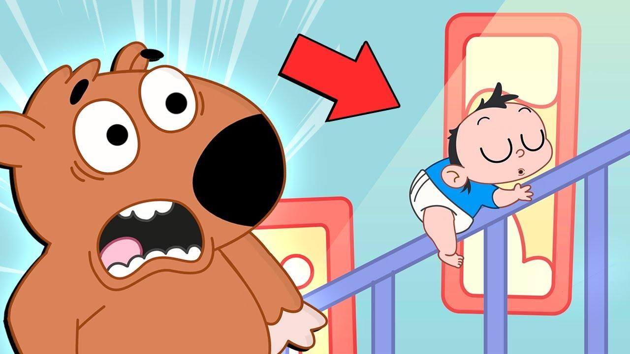 O BEBÊ É SONÂMBULO | AS AVENTURAS DE MIKE - Episódio 9 | Desenho Animado