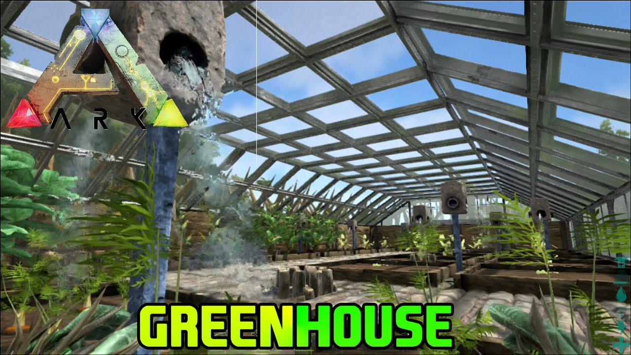Ark Survival Evolved Base Update Greenhouse 5