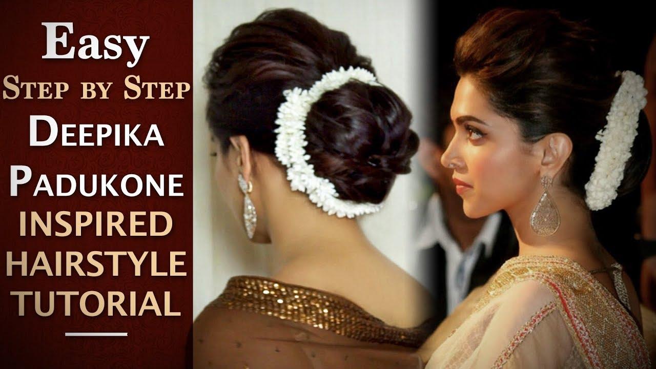 Deepika Padukone Hair Updo Tutorial Easy Deepika Padukone Inspired