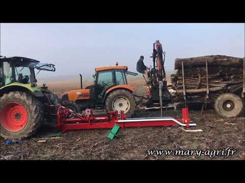 Fendeuse horizontale pour bois de 2 mètres avec radio - MARY AGRI - FH23T2