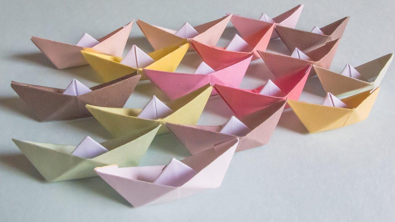 การพับกระดาษเป็นรูปเรือใบ Origami Boat Youtube