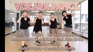 Volara Dance -Line Dance(Heru Tian(INA) &Erni Jasin(INA) - January 2021)~demo