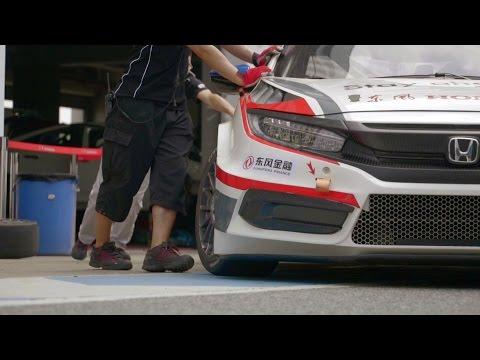 World First 2016 Honda Civic  CTCC Factory Race Car - Tested by CTCC Champion Martin Xie