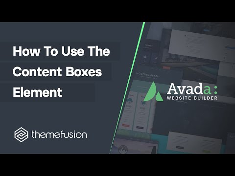 How To Use The Content Boxes Element Video