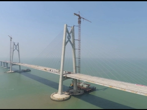 29th Immersed tube of Hong Kong-Zhuhai-Macao Bridge Connected with 28th