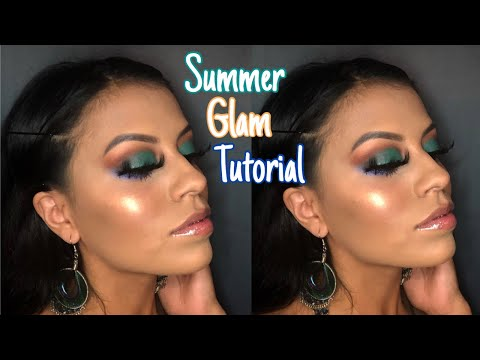 Turquoise summer glam tutorial using The Jaclyn Hill Palette thumbnail