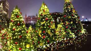 ❄Путешествие по Новогодней Москве. Очень красивые огни ночного города! New year in Moscow!