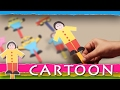 How To Make Cartoon Characters With Craft Paper - Step By Step DIY