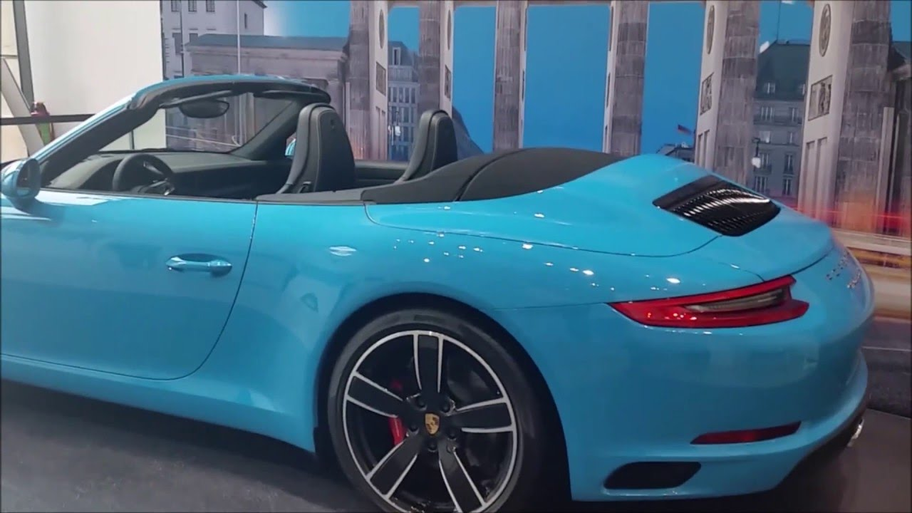 2016 Porsche 911 Carrera S Cabriolet Miami Blue Walkaround Youtube
