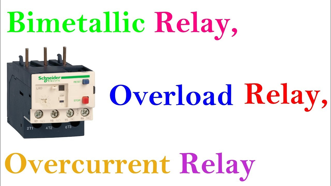 Bimetallic Relay Overload Overcurrent Working Basic Principle In Hindi