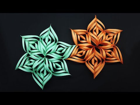 3D Snowflake Making for Christmas Decor - How to Make Christmas Snowflake - DIY Paper Snowflakes