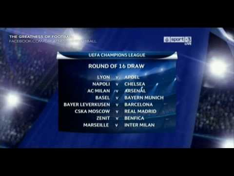 UEFAChampions League Last 16 2011/2012 Draw | 16-12-2011 | HD