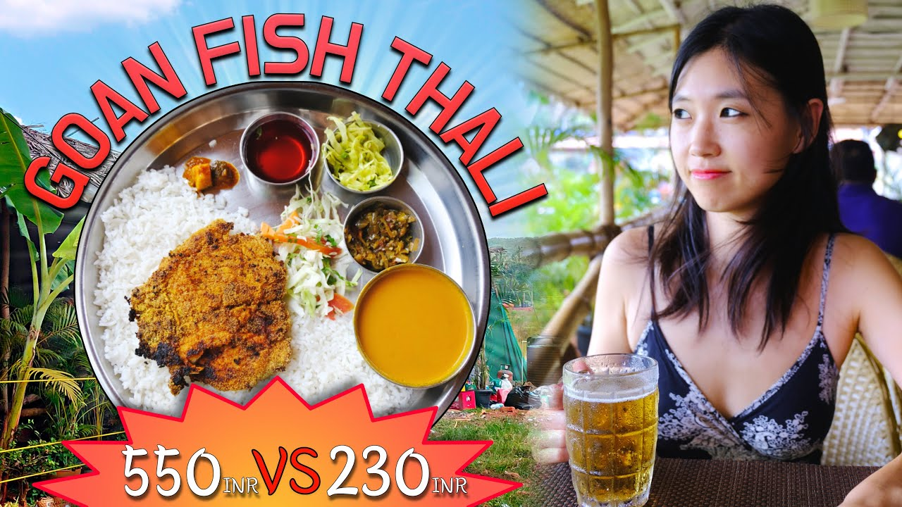 GOAN FISH THALI | Comparison between cheap and expensive Fish Thali in Goa | Indian Fish curry rice