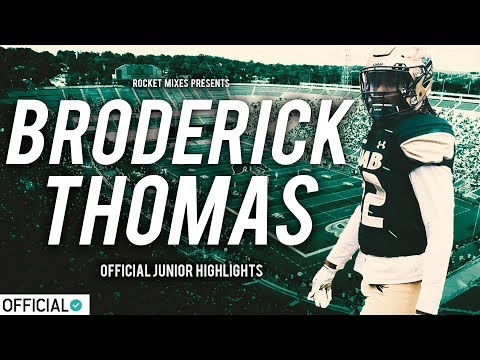 "Broderick Thomas - ""Hard-Hitting Safety"" 