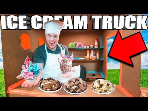 BOX FORT ICE CREAM TRUCK CHALLENGE DIY Ice Cream Truck, Candy & More!