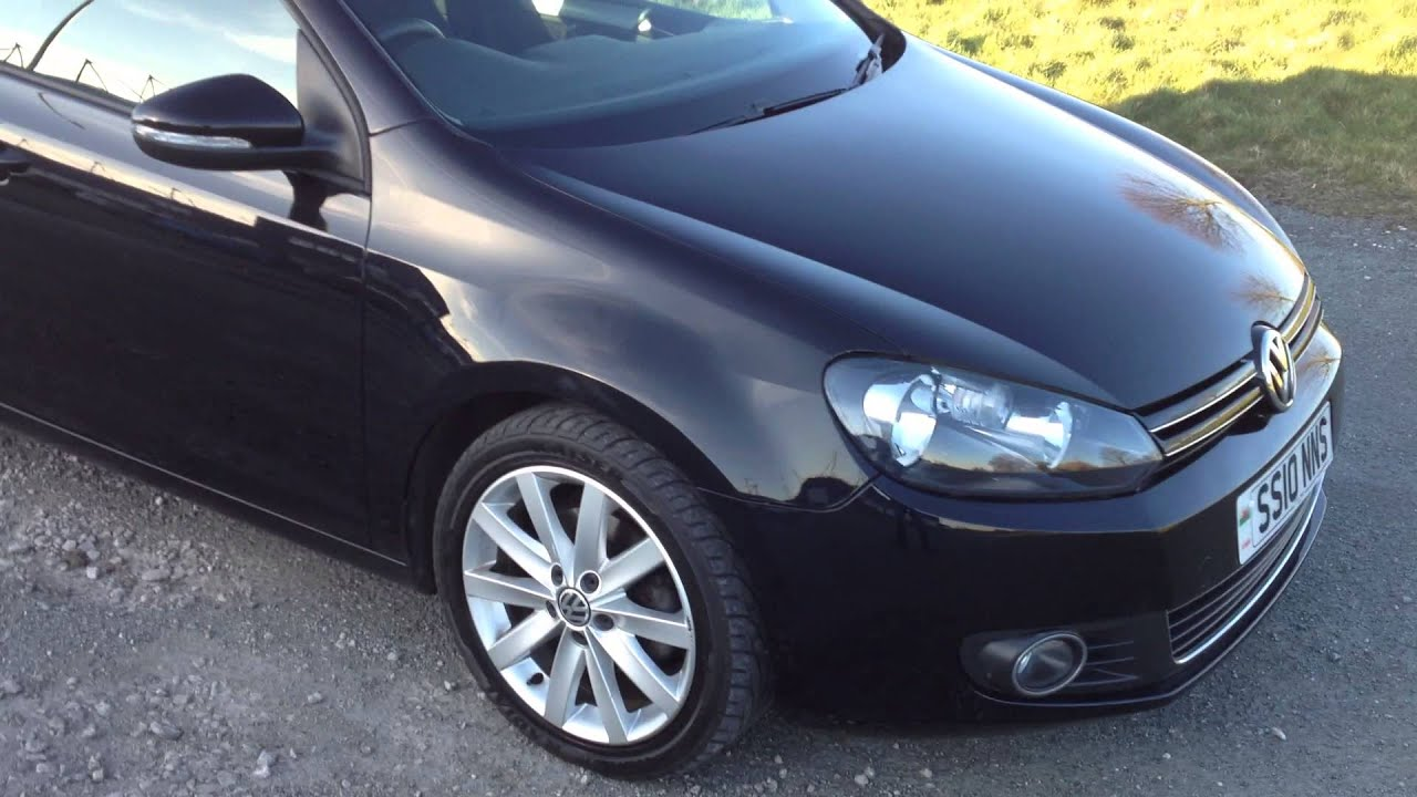 2010 vw golf 2 0 gt tdi 140 manual turbo diesel 5 door in black youtube. Black Bedroom Furniture Sets. Home Design Ideas