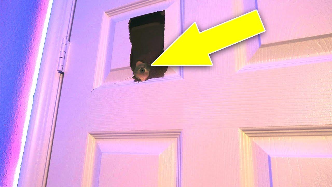 How To Break Through A Door Life Hack Youtube