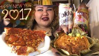 Pizza & Bibingka (Filipino Coconut-Rice Cake)/ MUKBANG