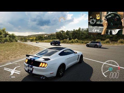 Shelby Mustang GT350R - Forza Horizon 3 (Logitech g29) gameplay
