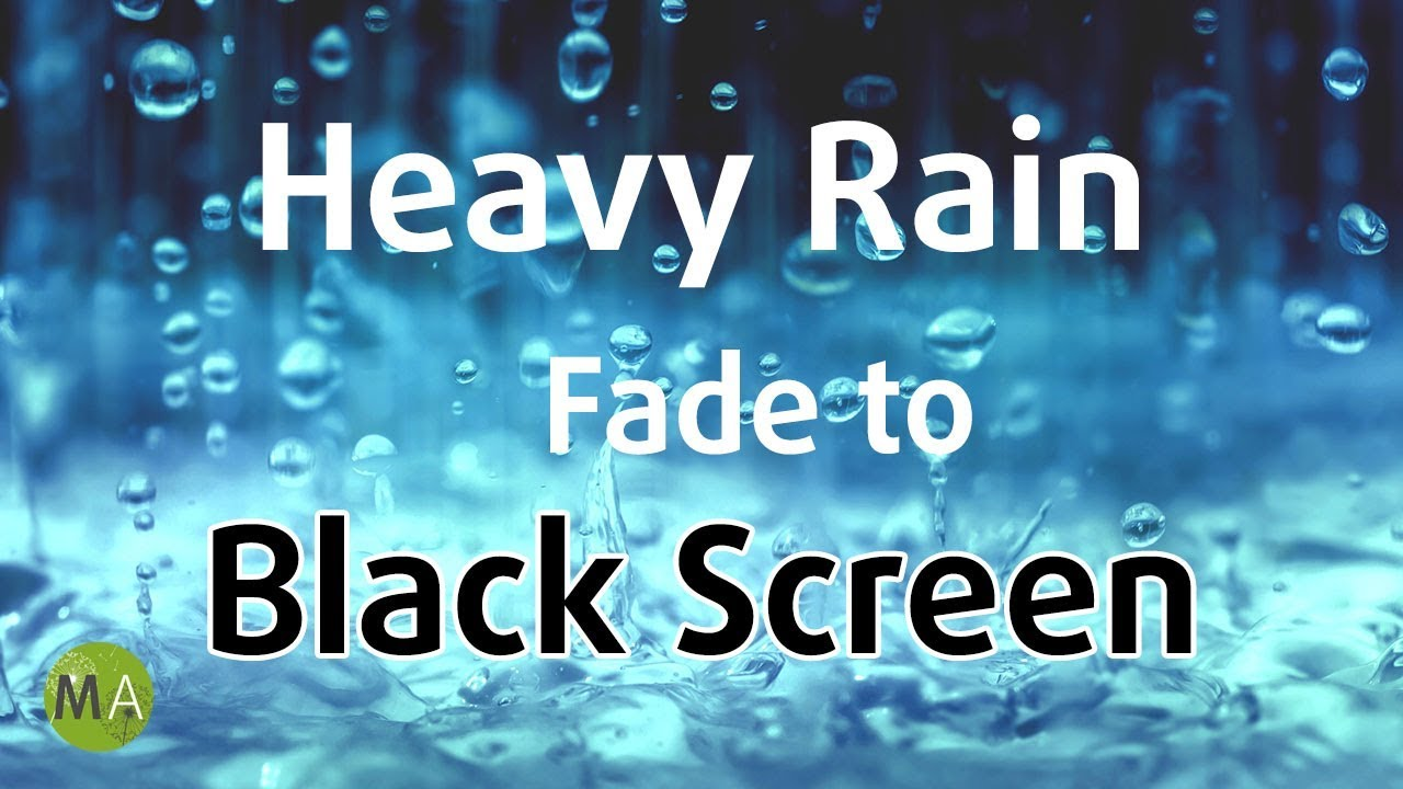 Heavy Rain Sounds (Black Screen) for Sleeping, Soothing a Baby - 10 Hours