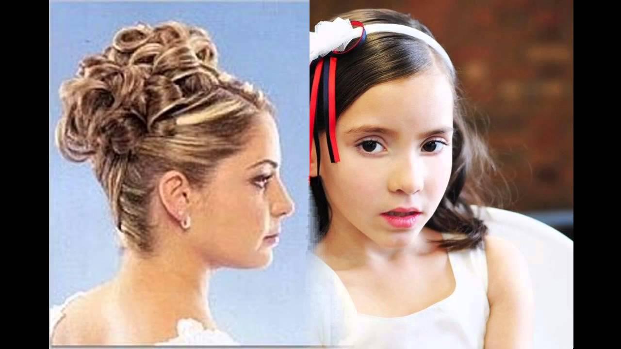 Junior bridesmaid hairstyles - YouTube