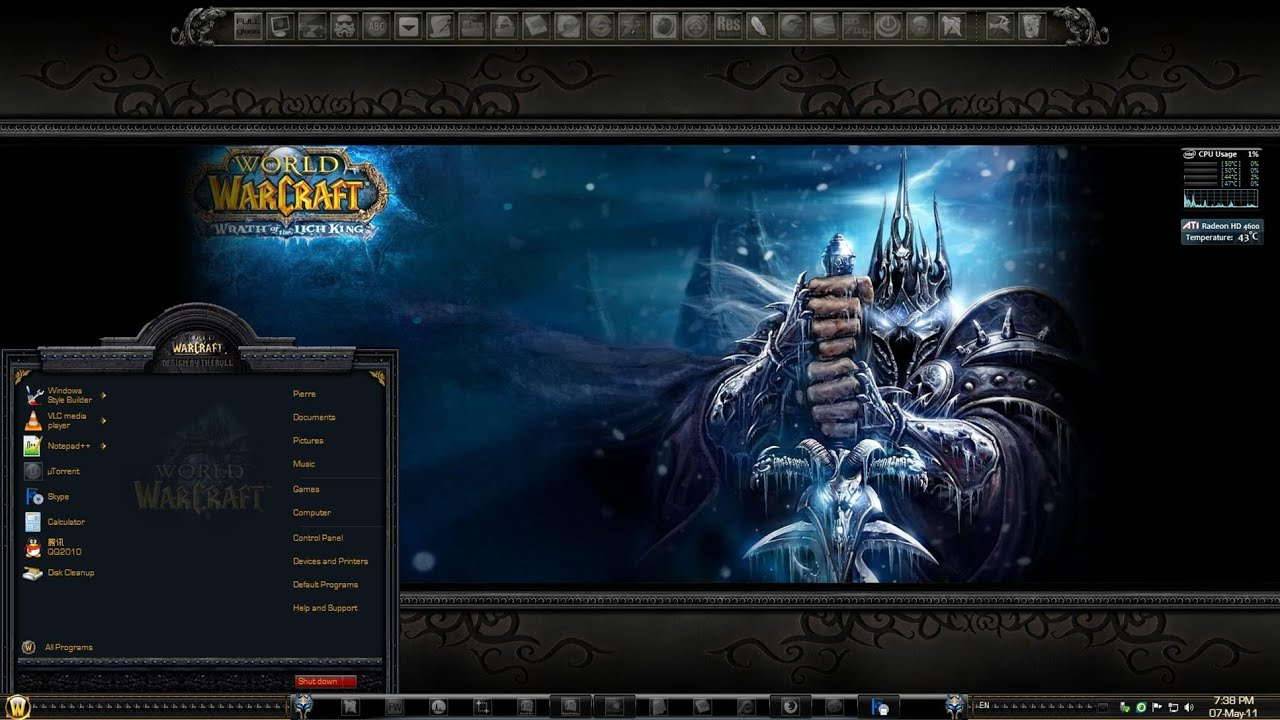 world of warcraft theme