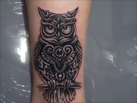 cover up- tattoo owl - YouTube