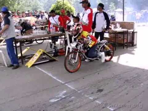 Drag bike anry sena FFA mio 300cc - YouTube