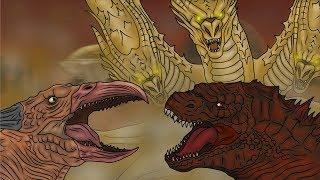 Годзилла против Кинг Гидоры - Полная версия / Godzilla vs. King Ghidorah - Full Edition