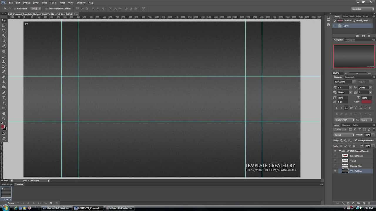 Youtube Banner Template Psd - FREE DOWNLOAD