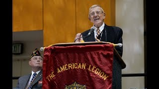Lou Holtz speaks at the 101st American Legion National Convention
