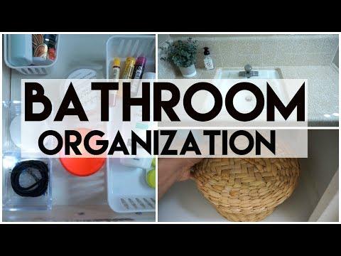 Bathroom Organization: Clutter Free & Organized