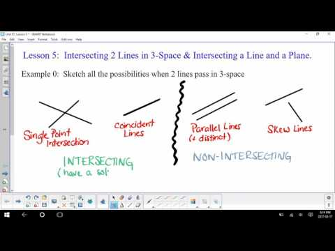 Intersection of 2 lines in 3D (Algorithm) (short - no audio)