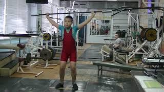 Кожевин Никита, 10 лет, вк 46 Рывок в п п от голени10 кг  Новичок