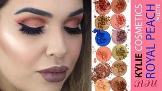 Kylie Cosmetics The Royal Peach Palette Soft Cut Crease Tutorial