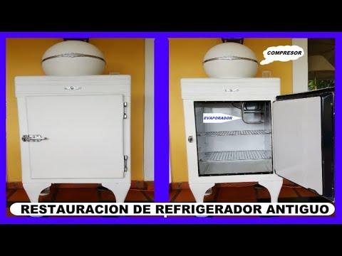 RESTAURACIÓN DE REFRIGERADOR GENERAL ELECTRIC (115 VOLTS) ANTIGUA - COLECCIONISTA.
