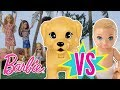 Barbie Obstacle Course: Babies Vs Puppies | Barbie