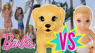 Barbie Obstacle Course: Babies vs. Puppies | Barbie