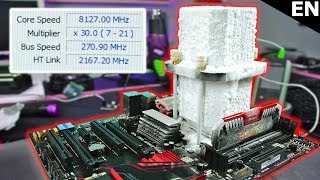 We Overclocked an AMD CPU to over 8.1 GHz !!