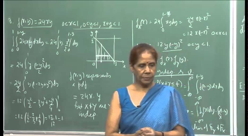 Mod-01 Lec-13 Independent r. v. and their sums.