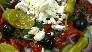 Greek Style Layered Salad Recipe ~ Noreen's Kitchen