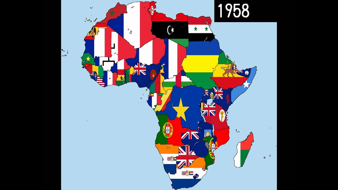 Map Of Africa With Flags.Africa Timeline Of National Flags Part 1 Youtube