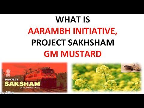 AARAMBH INTIATIVES , PROJECT SAKHSHAM , GM MUSTARD , PULSES CRISIS, NIDHI SCHEME , MCI BILL