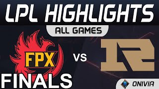 FPX vs RNG Highlights ALL GAMES LPL Spring Finals 2021 FunPlus Phoenix vs Royal Never Give Up by Oni