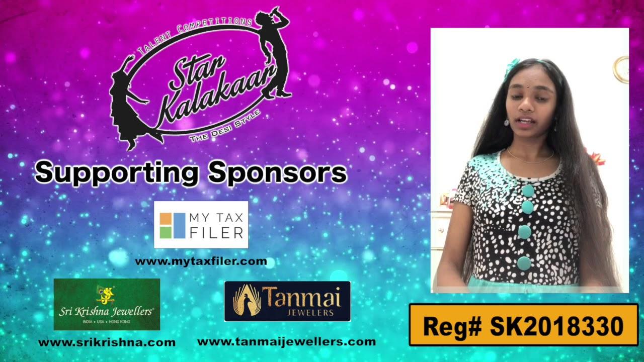 Participant Reg# SK2018-330 Introduction - US Star Kalakaar 2018 || DesiplazaTV