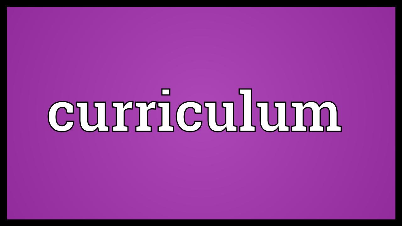 Curriculum Meaning Youtube