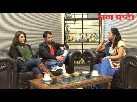 Exclusive interview with Amrinder gill and Mandy Takhar on jagbani Part 1