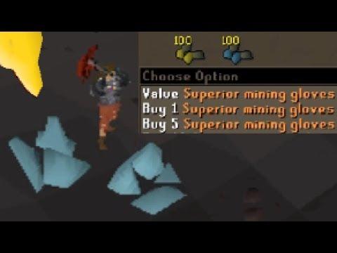 testing new mining gloves
