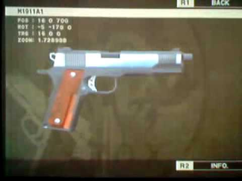 All weapons in metal gear solid 3 subsistance m1911 custom ... M1911 Custom Mgs4