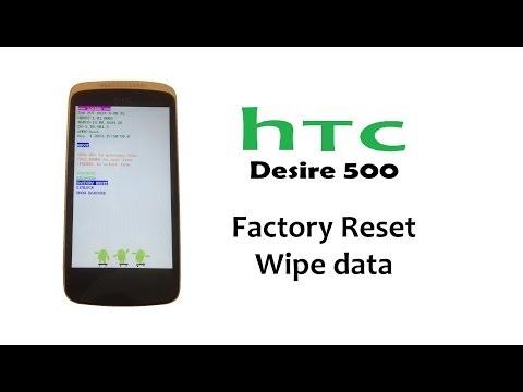 HTC Desire 500 - Hard Reset, Password Lock, Factory Reset, Back to factory settings)